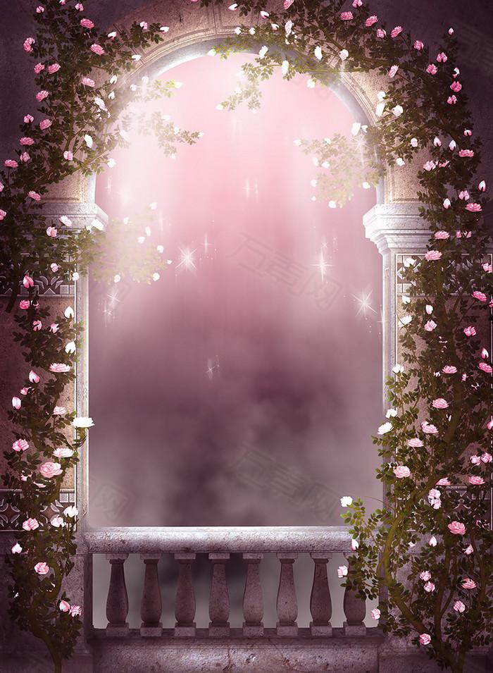 浪漫城堡背景