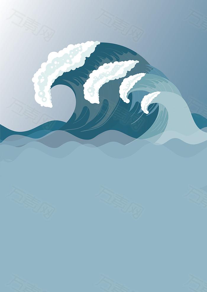 清新海浪日式背景  图片素材详细参数: 编号97268 分类广告背景 颜色