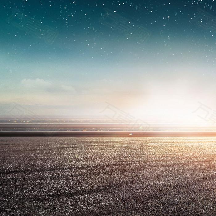 科技天空促销推广主图背景图