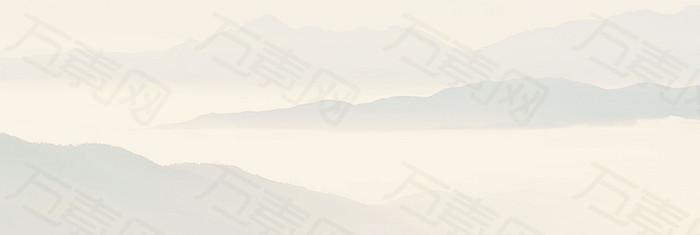 浅色背景 山banner