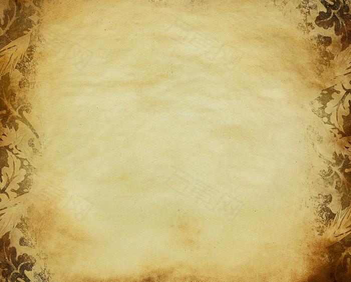 怀旧牛皮纸花纹背景高清图片