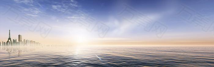 简约大气海洋banne
