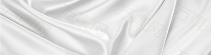 护肤白色丝绸背景banner