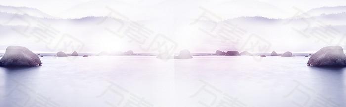 浅紫色背景banner