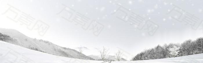 白色雪山 背景