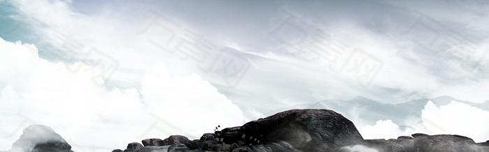 大气山川淘宝背景