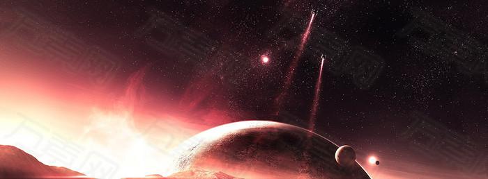 宇宙星空地球背景banner
