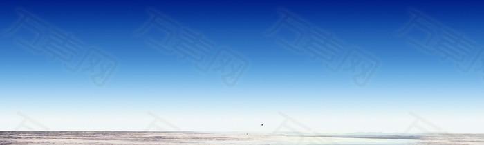 蓝色天空 大海背景 banner