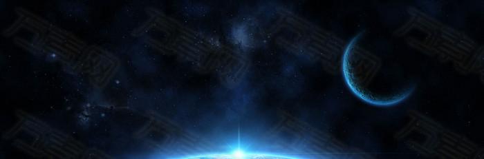 宇宙星空月球背景banner
