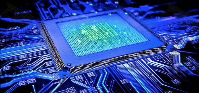 电子芯片背景