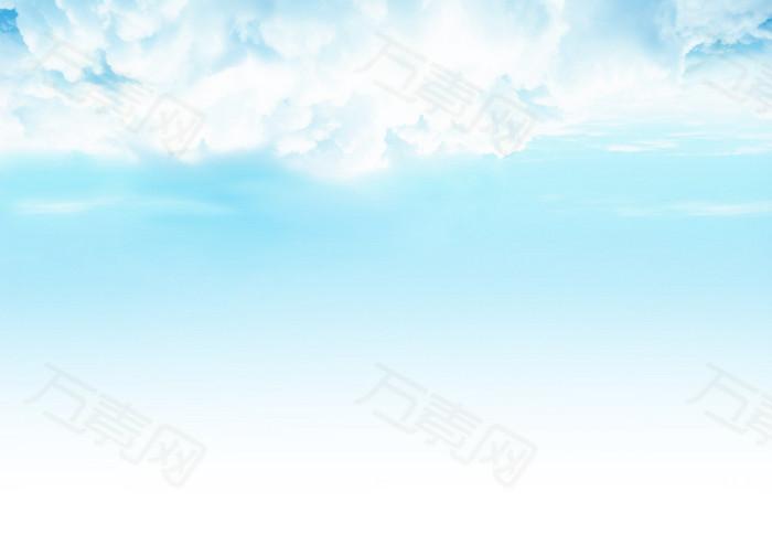 蓝色天空背景图片