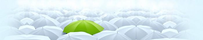 雨伞banner创意设计