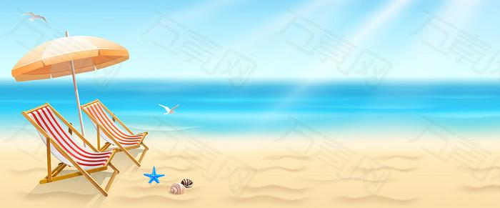 清凉夏天沙滩主题