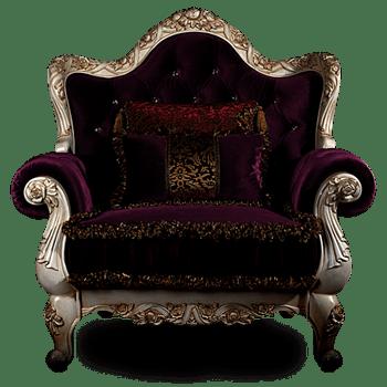 暗紫色银色王座