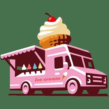 卡通食品路边摊外卖汽车冰激凌