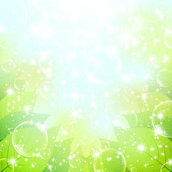 清爽绿色气泡背景