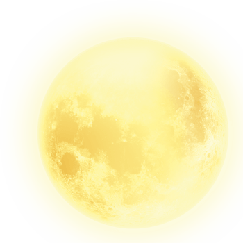 黄色月亮图案