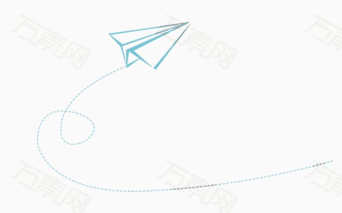 万素网 素材分类 卡通手绘纸飞机