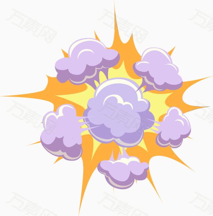 爆炸框 对话框 卡通 卡通气泡 气泡 气体 矢量素材 图案 云团 爆炸