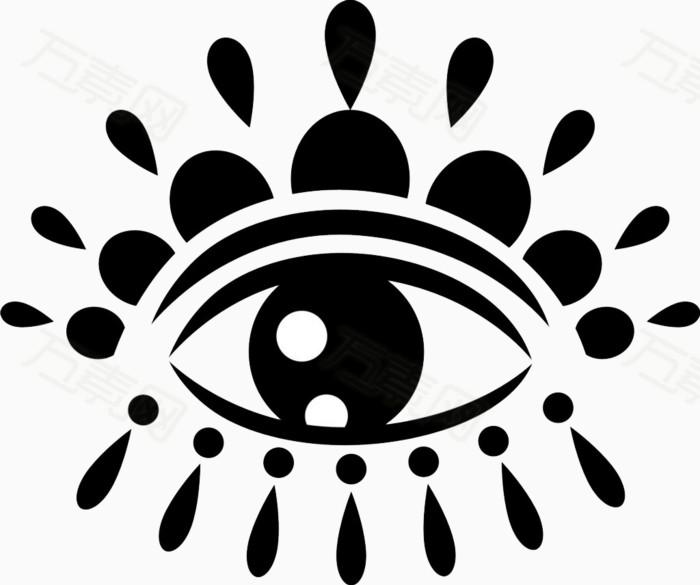 万素网提供简笔画眼睛免抠素材png设计素材,背景素材