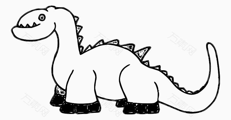 简笔画卡通小恐龙图片