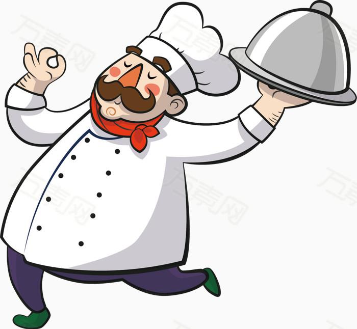 厨师卡通手绘图标元素