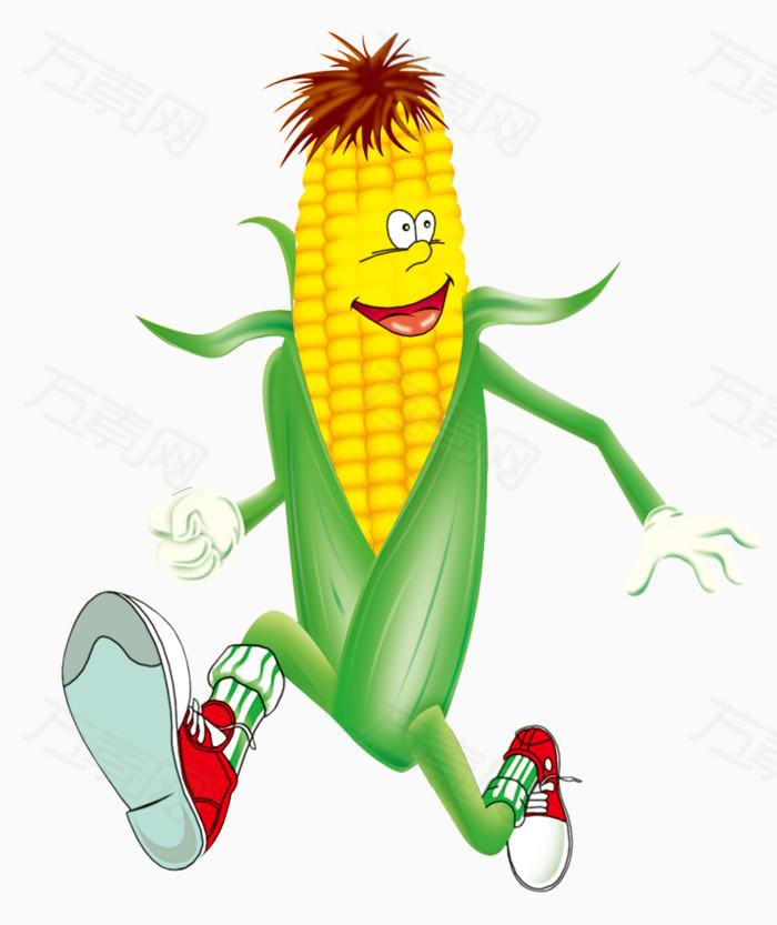 卡通手绘玉米人