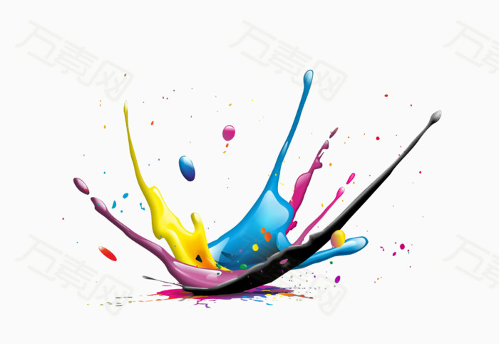 万素网 素材分类 喷溅的颜料  9042                           提示