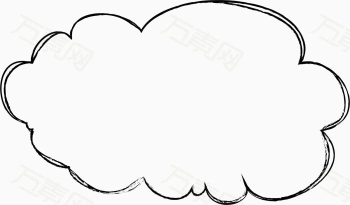 云朵黑白简笔画
