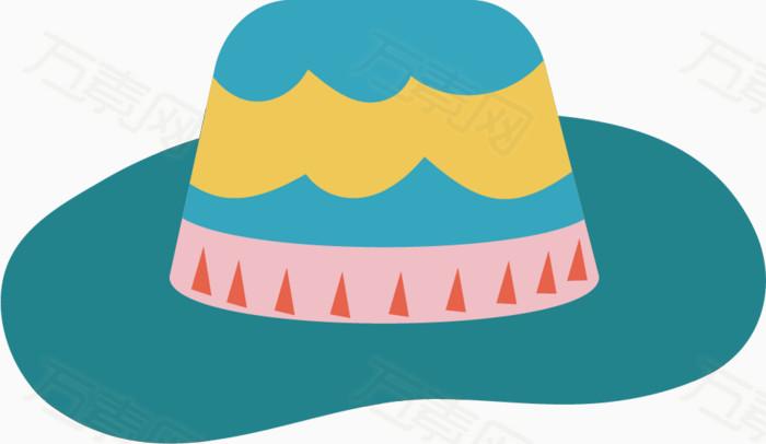 卡通手绘夏日元素帽子