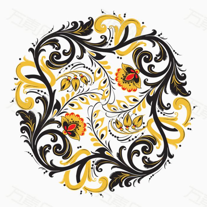 花纹纹理圆形图案装饰