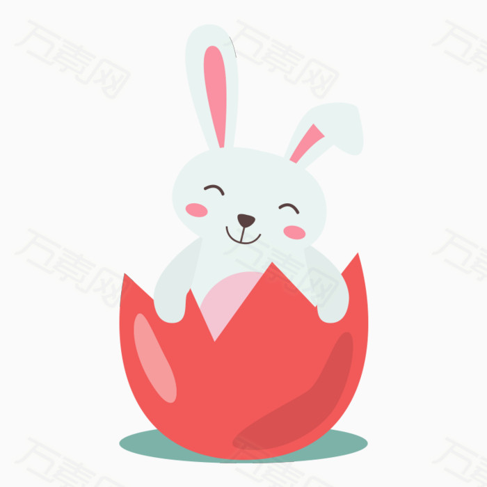 动物  小白兔  卡通小白兔  破壳的蛋