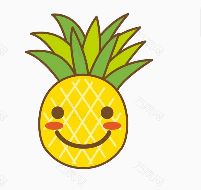 卡通笑脸菠萝