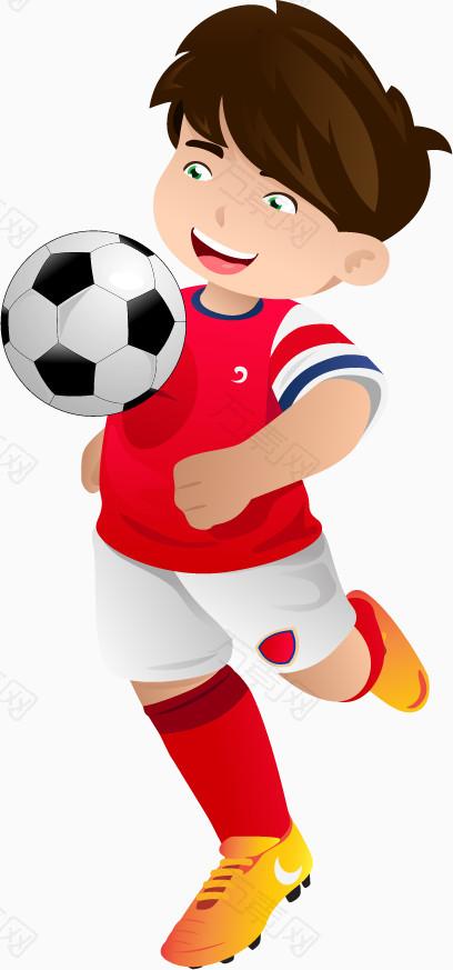 足球运动员矢量图卡通