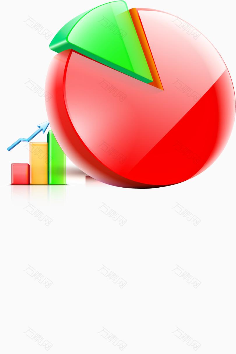 矢量商务3d百分比成分指标图标图片