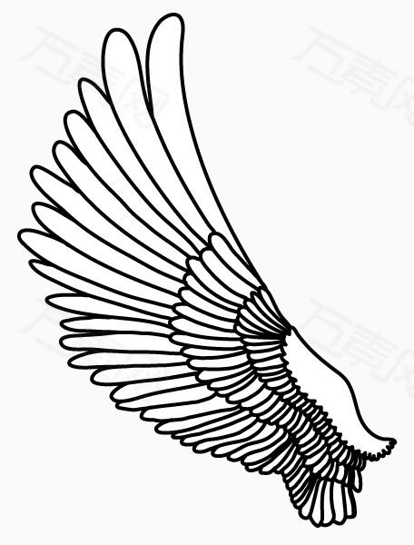 翅膀简笔画 步骤 简单