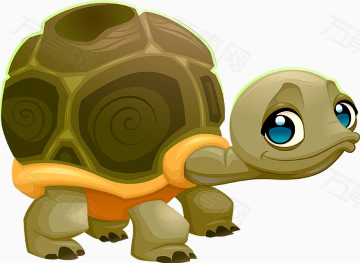 乌龟,乌龟壳,卡通,手绘,可爱,免扣png素材,海底生物,海洋世界