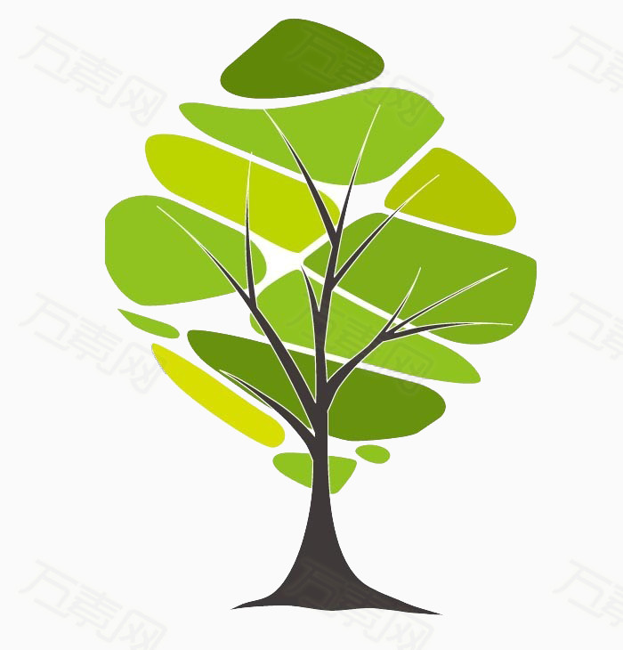 万素网 免抠元素 卡通手绘 树叶绿树  万素网提供树叶绿树png设计素材