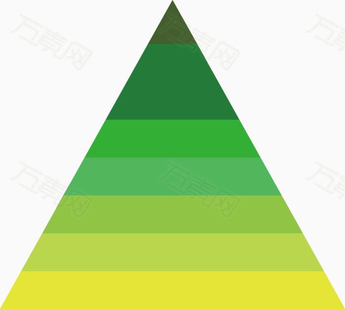 矢量创意设计深绿色三角形统计数据图