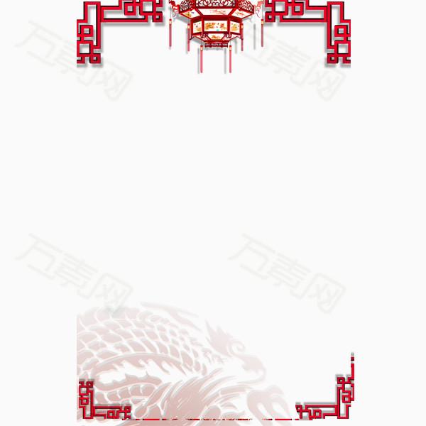 红灯笼边框免抠素材