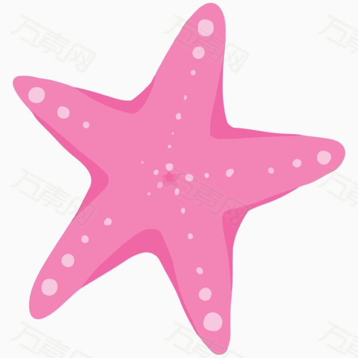 卡通海星 手绘海星 粉色海星 海底动物 夏季