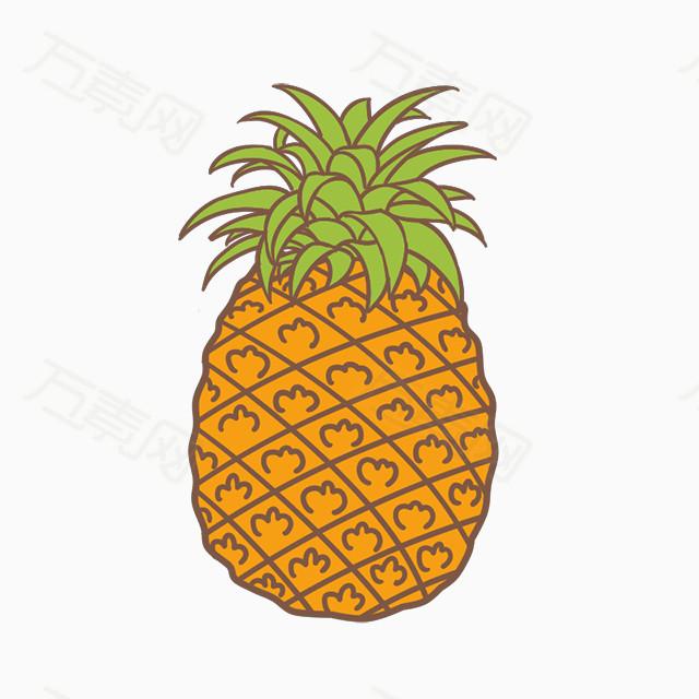 万素网 免抠元素 装饰元素 水果菠萝  图片素材详细参数: 编号377821