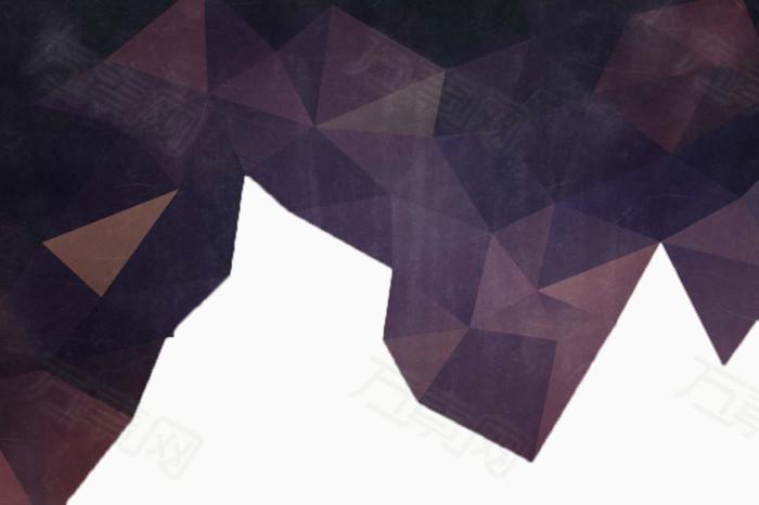 万素网 素材分类 紫色立体三角形  7674