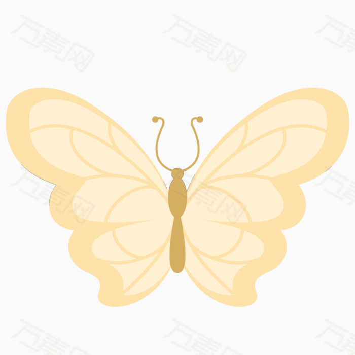 手绘风格蝴蝶
