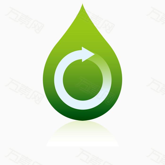 可回收再利用 环保图标矢量素材 回收可利用资源 绿色循环标志