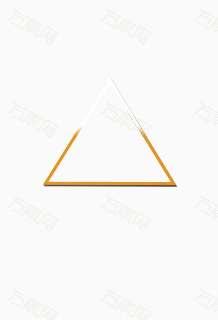 形状边框三角形