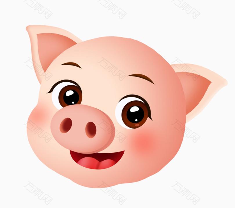 2019猪年可爱小猪头像设计
