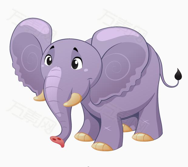 卡通大象 手绘大象 卡通动物 水彩动物 可爱