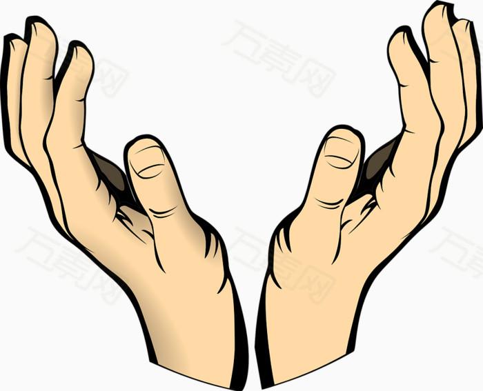 手 卡通手 手掌 手指 手托着 手效果 托举图片