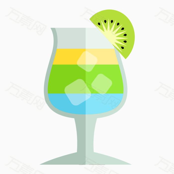 夏天 夏日主题 png素材 卡通手绘 饮料 扁平化 果汁 冰块